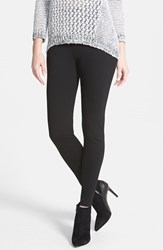 Petite Women's Two By Vince Camuto Seamed Back Leggings Rich Black