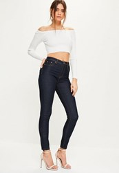 Missguided Blue Mid Rise Superstretch Jeggings