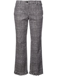 Michael Kors Collection Gingham Ruffle Hem Trousers White