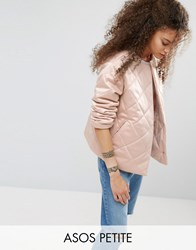 Asos Petite Luxe Quilted Jacket Nude Cream