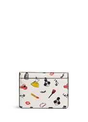 Alice Olivia 'Stacey Print' Leather Card Holder Multi Colour