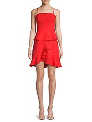 Collective Concepts Spaghetti Strap Ruffle Dress Red