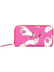 Trussardi Printed Wallet Pink Purple