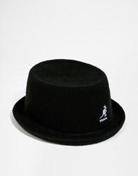 Kangol Bermuda Mowbray Pork Pie Hat Black