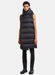 Rick Owens Liner Wrap Sleeveless Down Jacket Black
