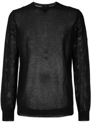 Roberto Collina Perforated Detail Jumper Black