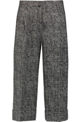 Michael Kors Collection Checked Wool Culottes Anthracite