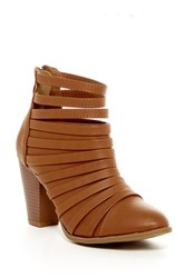 Top Guy Charlotte Strappy Bootie Brown
