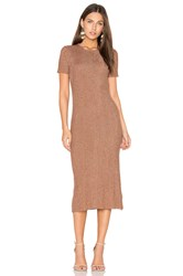 Tibi Marcel Dress Metallic Copper