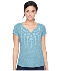 Aventura Clothing Maisie Short Sleeve Aqua Haze Women's Blue