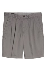 Nordstrom Big And Tall Men's Shop Smartcare Tm Pleated Shorts Grey Tornado