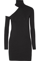 By Malene Birger Ayai Cutout Stretch Knit Turtleneck Sweater Black