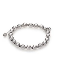 Gucci B Britt Beaded Sterling Silver Bracelet