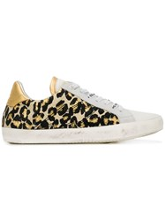 Zadig And Voltaire Leopard Print Sneakers White