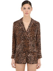 Love Stories Leopard Printed Pajama Shirt