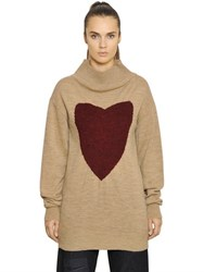 Vivienne Westwood Anglomania Heart Jacquard Wool Knit Sweater