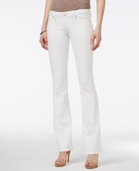 True Religion Joey Low Rise Optic White Wash Flared Jeans