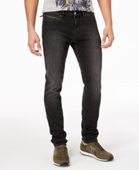 Armani Exchange Men's Tapered Fit Stretch Jeans Black