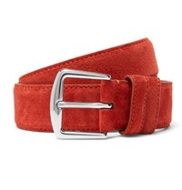 Loro Piana 3.5Cm Red Suede Belt