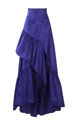 Peter Pilotto Taffeta Long Skirt Purple