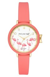 Kate Spade New York Park Row Silicone Strap Watch 34Mm Pink White Gold