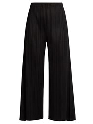 Issey Miyake Wide Leg Pleated Trousers Black
