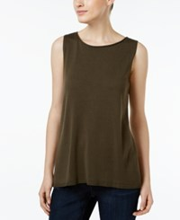 Eileen Fisher Tencel Boat Neck Tank Top Surplus