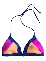 Roxy Summer Cocktail Tri Bikini Top Multi Coloured Multi Coloured