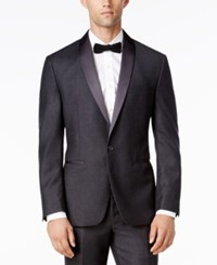 Ryan Seacrest Distinction Men's Slim Fit Gray Flannel Tuxedo Jacket Only At Macy's