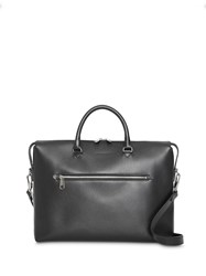 Burberry Large Textured Leather Briefcase Black