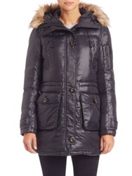 Rainforest Thermoluxe Faux Fur Trimmed Parka Black