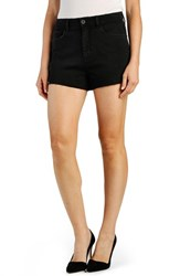 Women's Paige Denim 'Margot' High Rise Cutoff Denim Shorts Vintage Black