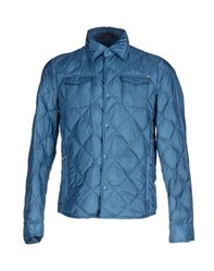 Seventy By Sergio Tegon Coats And Jackets Down Jackets Men Pastel Blue
