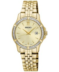 Seiko Women's Special Value Gold Tone Stainless Steel Bracelet Watch 28Mm Sur728