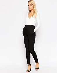 Oh My Love Tailored Jumpsuit In Mono Blkcream