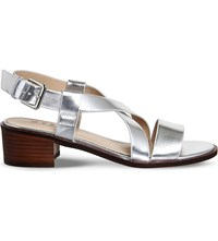 Office Midtown Cross Over Heeled Sandals Silver