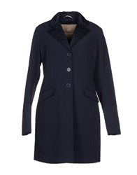 Piero Guidi Coats Dark Blue