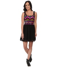 Rock And Roll Cowgirl Tank Dress D5 4475 Black Women's Dress