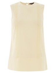 Warehouse Lace Trim Shell Top Cream