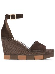 Paloma Barcelo Espadrille Wedges Brown