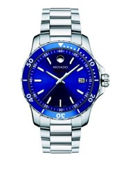 Movado Series Stainless Steel And Aluminum Bracelet Watch Blue Silver