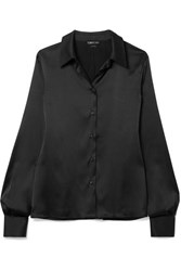 Tom Ford Silk Blend Satin Shirt Black