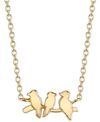 Unwritten Bird Pendant Necklace In 14K Gold Plated Sterling Silver