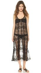 9Seed Tulum Lace Cover Up Dress Black