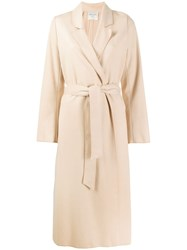 Forte Forte Belted Single Breasted Coat Neutrals