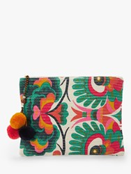 Star Mela Aminta Abstract Floral Print Clutch Multi