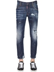 Dsquared 16Cm Skater Stretch Cotton Denim Jeans