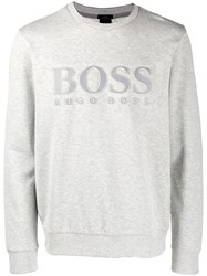 Hugo Boss Logo Sweatshirt Grey