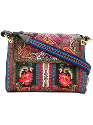 Etro Floral Shoulder Bag Black