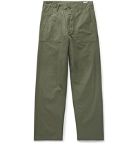 Orslow Cotton Ripstop Trousers Green